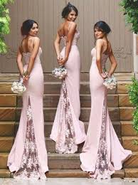 Wedding Dress With Train Buy Gorgeous Spaghetti Mermaid Long Bridesmaid Dress With Train
