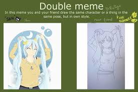 Double Meme - double meme polls art amino