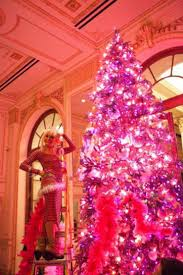 christmas tree with pink decorations christmas lights decoration
