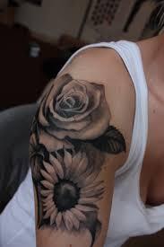 tattoo rose arm ink february 10 sunflowers and tattoo black