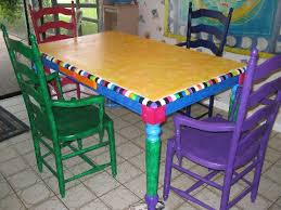 How To Paint Kitchen Table And Chairs by Adrian U0027s Embellishments Painted Kitchen Table