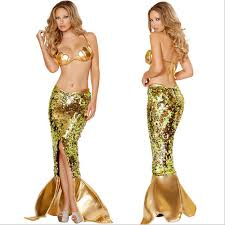 mermaid tails for halloween golden mermaid costume for women halloween fancy party