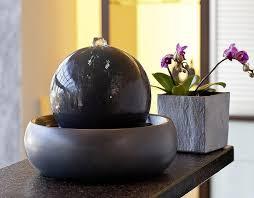 design zimmerbrunnen seliger zimmerbrunnen rono 20060 keramik brunnen tischbrunnen anthraz