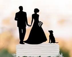 wedding cake topper with cat wedding cake topper with dog