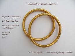gold leaf bracelet images Goldleaf mantra bracelet the pair jpg