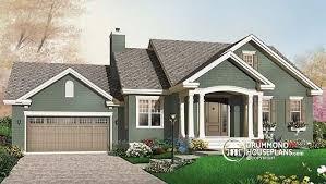 bungalow garage plans w3236 2 bedroom open floorplan bungalow with garage and