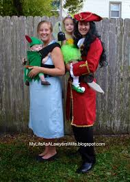 family halloween costumes for 3 my life as a lawyer u0027s wife peter pan family and babywearing