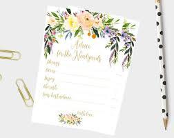 advice cards wedding advice cards etsy