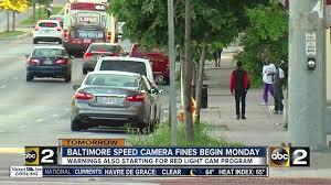 baltimore red light camera speed cameras start monday
