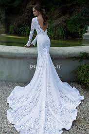 wedding and prom dresses white vintage lace bateau ribbon backless mermaid berta bridal