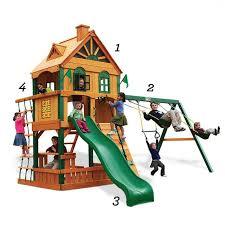 Big Backyard Savannah Playhouse by Swing Set Safety Tips Play Set Regulations