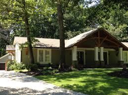 Rambler Style Home Garrell Associates Inc Lake Breeze Cottage House Plan 07011 Brick