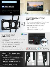 mounting a tv on the wall amazon com mount it mi 303b heavy duty tilting and locking 175