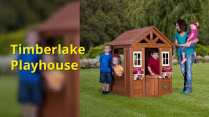 backyard discovery timberlake all cedar wood playhouse timberlake