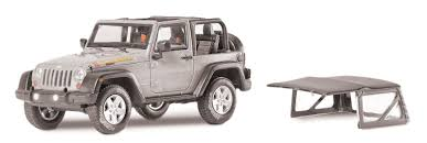 silver jeep rubicon greenlight collectibles 86049 1 43rd scale 2010 jeep wrangler