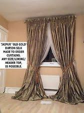 Interlined Curtains For Sale Dupion Silk Curtains Ebay