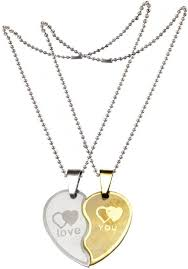friendship heart necklace images Men style new couple lovers heart love you jewelry for friendship jpeg
