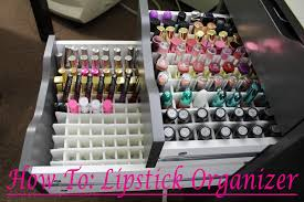 how to diy alex drawer lipstick organizer youtube