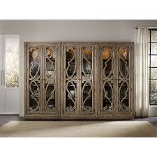 Hooker Dining Room by Hooker Furniture 5291 50001 Solana Bunching Curio Cabinet In Light