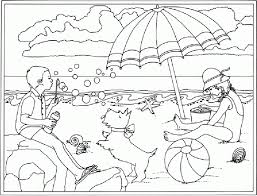 summer beach coloring pages printable get coloring pages