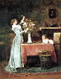 Arranging Flowers by File Munkácsy Woman Arranging Flowers 1881 1882 Jpg Wikimedia
