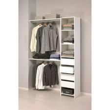 petit dressing chambre skirt kit placard contemporain blanc l 141 cm achat vente