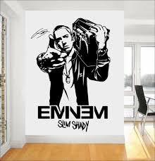 wall mural teens promotion shop for promotional wall mural teens fashion design mural eminem rapper vinyl wall art stickers for boys bedroom teens room decor manga mural adesivo de parede a235