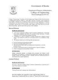 sample resume for experienced assistant professor in engineering college android developer cover letter project engineer