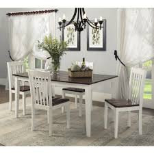White Dining Room Sets Dorel Living Dorel Living Shiloh 5 Piece Rustic Dining Set