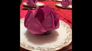 Pliage Serviette Papier Poinsettia by Fleur De Lotus Pliage De Serviette Art De La Table Origami