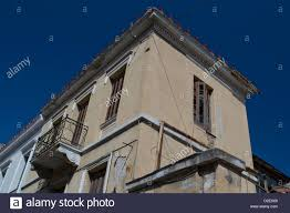 a neoclassical house in plaka neighborhood central athens stock