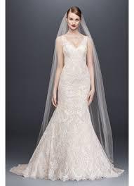 oleg cassini wedding dress oleg cassini lace trumpet wedding dress david s bridal