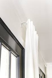 Long Living Room Curtains How To Fake A Long Curtain Rod Bless U0027er House