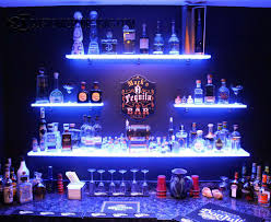 Basement Bar Kits Led Lighted Shelves Back Bar Shelving For Home Bars U0026 Restaurants