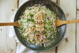 brown rice noodle salad relishing it