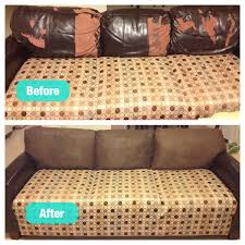 Leather Sofa Cushions Fixed My Peeling Leather Couch Cushions For Under 60 Not Bad For