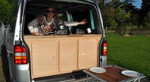 Camper Trailer Kitchen Ideas by Rear Kitchen On The Move Pinterest Van Dwelling And Diy Camper