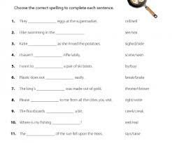 15 free homonyms worksheets