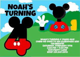 Mickey Mouse Invitation Cards Printable Top 10 Mickey Mouse Birthday Party Ideas For Games