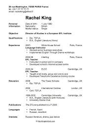 Teaching English Abroad Resume Sample by Best 20 Cv In English Ideas On Pinterest Answers For Interview