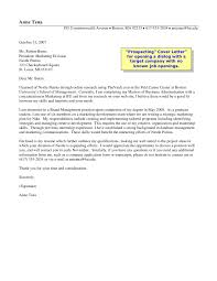 market analyst cover letter examples