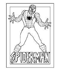 spiderman coloring picture coloring