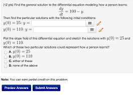 find the general solution to the differential equa chegg com