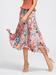 pleated skirts floral maxi pleated skirt floral skirts m zaful