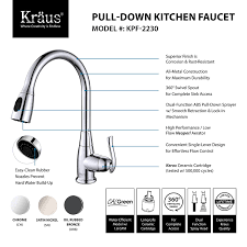 Pull Down Bathroom Faucet by Kraus Kpf 2230ch Single Lever Pull Out Kitchen Faucet Chrome