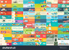 big collection banners flat style set stock vector 589983392