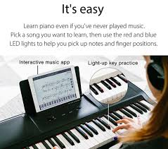 keyboard that lights up to teach you how to play amazon com smart piano keyboard 61 key portable light keyboard