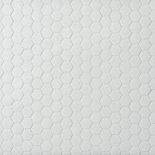 metro white matte hexagon porcelain mosaic 12in x 12in