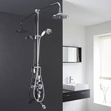 hudson reed traditional shower system with thermostatic exposed