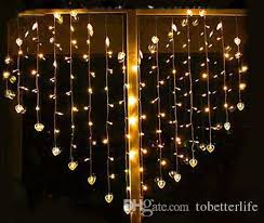 cheap warm white led curtain lights wholesale hearts